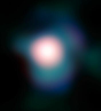 Dette bildet av Betelgeuse er tatt med European Southern Observatorys Very Large Telescope, og viser at stjernen har en utstrakt atmosfære,. (Foto: ESO, se lisens)