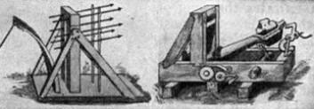 """""""Katapulter ble brukt til å slynge brannbomber, kampestein og mengder av spyd mot målet."""""""