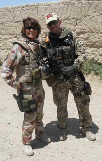UiS-forsker Lillian Katarina Stene jobbet som forsker i et tysk Nato-hovedkvarter nord i Afghanistan samtidig som hun gjorde en jobb for forsvaret. (Foto: Privat)