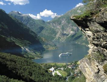 Geiranger kan rammes av en 20-40 meter høy flodbølge.