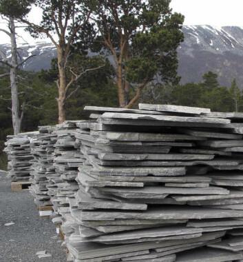 På Oppdal i Sør-Trøndelag har Minera AS et av sine produksjonssteder. Her tas det ut bruddskifer. (Foto: Foto: Peer- Richard Neeb)