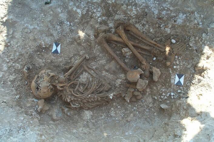 Skjelettet ble funnet ved Boscombe Down, fem kilometer sørvest for Stonehenge. Foto: Wessex Archaeology.