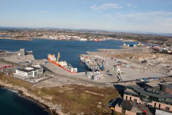 Etableringen av havnen i Risavika er en god illustrasjon på hvordan et privat-ooffentlig styringsnettverk har vært med på å å legge til rette for utbygging av et stort infrastrukturprosjekt i Stavanger-regionen. (Foto: Risavika Havn AS)
