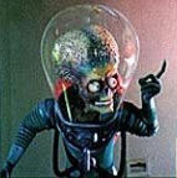 """""""Det er slett ikke sikkert at marsboere må være intelligente for å kunne besøke Jorda. Bildet er fra filmen Mars Attacks."""""""