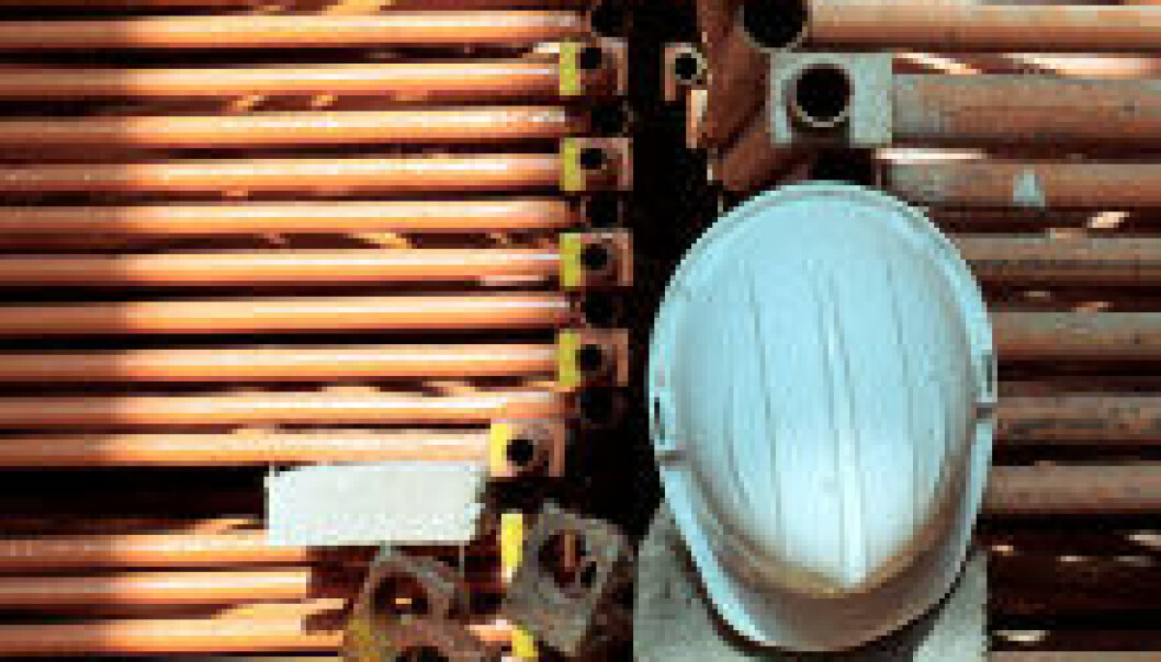Hjelm. Bygningsarbeid. Bygg og anlegg. (Foto: iStockphoto)
