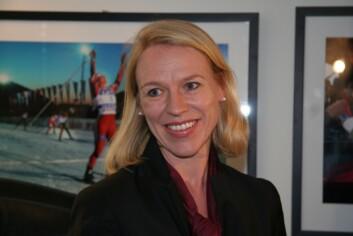 Anniken Huitfeldt er kulturminister i lykkeland, hevder professor Anne-Britt Gran ved BI. (Foto: Wenche Nybo/KUD)