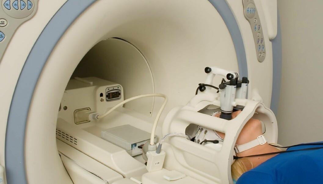 MR-skanneren på Haukeland Universitetssykehus undersøker hjernen til en schizofrenipasient. Foto: Jan Henriksen