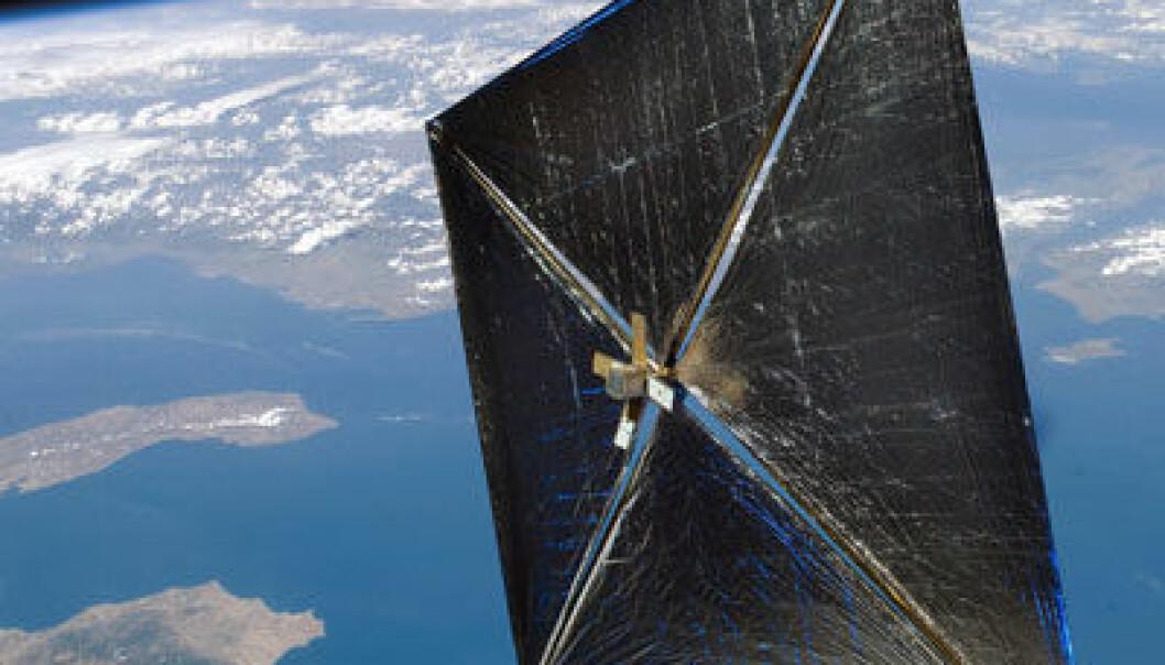 NASAs NanoSail-D. (Illustrasjon: NASA)