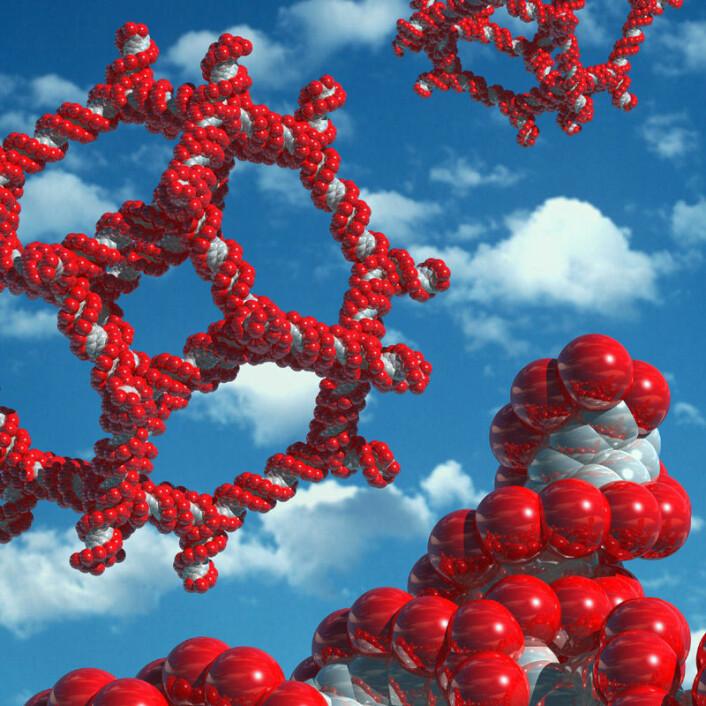 Nadrian Seeman var opprinnelig krystallograf, og fant ut at fragmenter av arvestoffet DNA kunne brukes som byggeklosser for å forme strukturer i nanostørrelse. (Illustrasjon: Kenneth Eward)