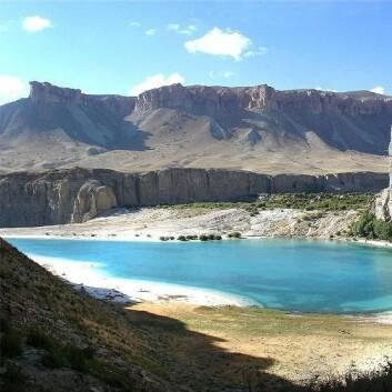 """""""Band-e Panir, en av innsjøene i nasjonalparken. (Kilde: Wikimedia Commons)"""""""