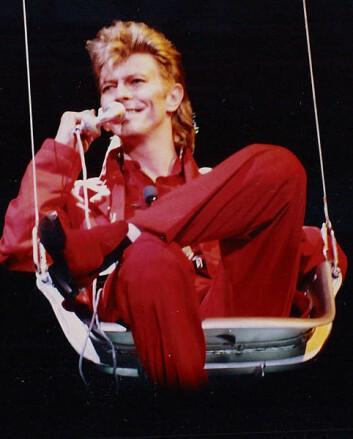 David Bowie på den tyske musikkfestivalen Rock am Ring i 1987. (Foto: Wikimedia Commons, se lisens her.)