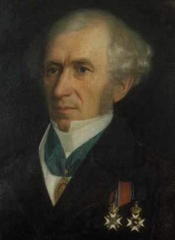 Baltazar Mathias Keilhau (født 1797 i Biri, død 1858) (Maleri: Christiane Schreiber )