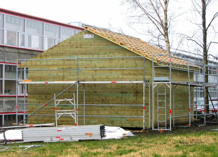Klimahuset i Stavanger brukes til å simulere et kontrollert uteklima. (Foto: Jan Kåre Bording, Universitetet i Stavanger)