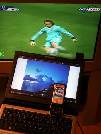 Digitale multimedia-opplevelser er i dag tilgjengelige i mange formater, fra mobiltelefoner og pc-er til tv og kinosaler. (Foto: Bjarne Røsjø)