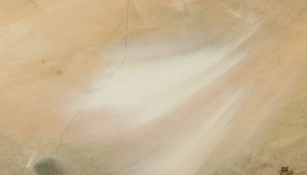 Sandstorm. (Foto: NASA/MODIS Rapid Response Team, Goddard Space Flight Center)