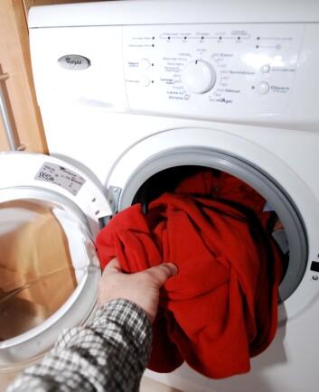 """""""Samsung har utviklet en vaskemaskin som bruker sølvpartikler i nanostørrelse til å drepe bakterier. (Illustrasjonsfoto: www.colourbox.no)"""""""