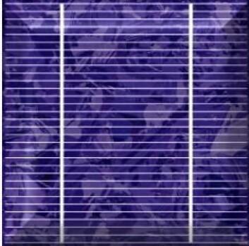 En solcelle som brukes til å produsere elektrisitet fra sollys