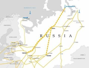 Bovanenko-feltet på halvøya Jamal er et kjempe-gassfelt som krever store investeringer, blant annet i nye rørledninger. (Kart: Gazprom)