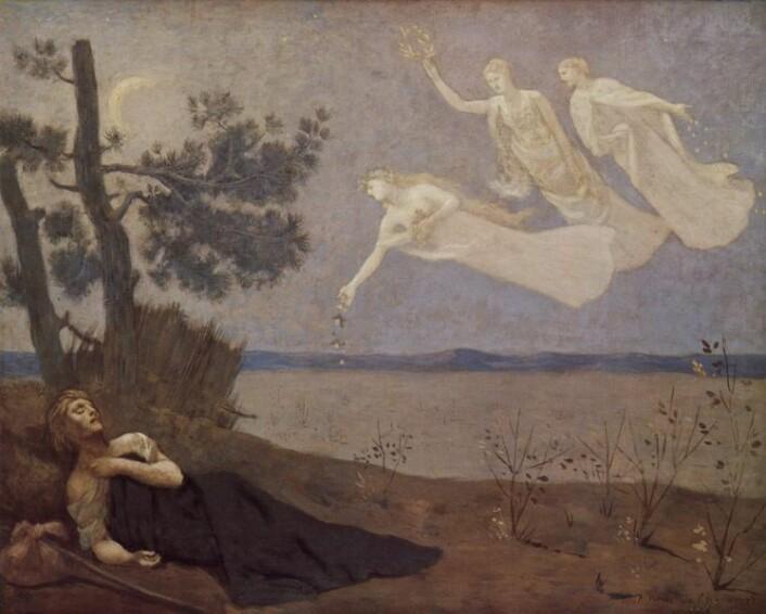 Der Traum (1883) (Maleri: Pierre-Cécile Puvis de Chavannes)