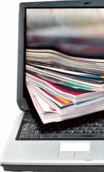 Internett gir høve til publisering av vitskaplege artiklar utanfor dei dyre tidsskrifta, men kva då med kvalitetssikring og fagfellevurdering? (Foto: Shutterstock)