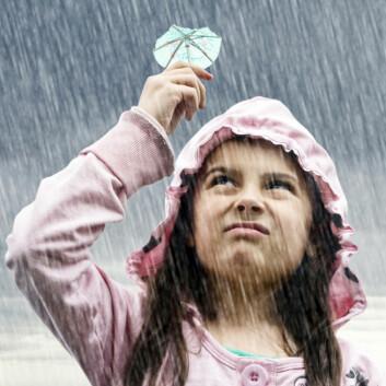 Klimaet i Norge blir våtere og varmere. Det vil påvirke strømprisen. Foto: Shutterstock)