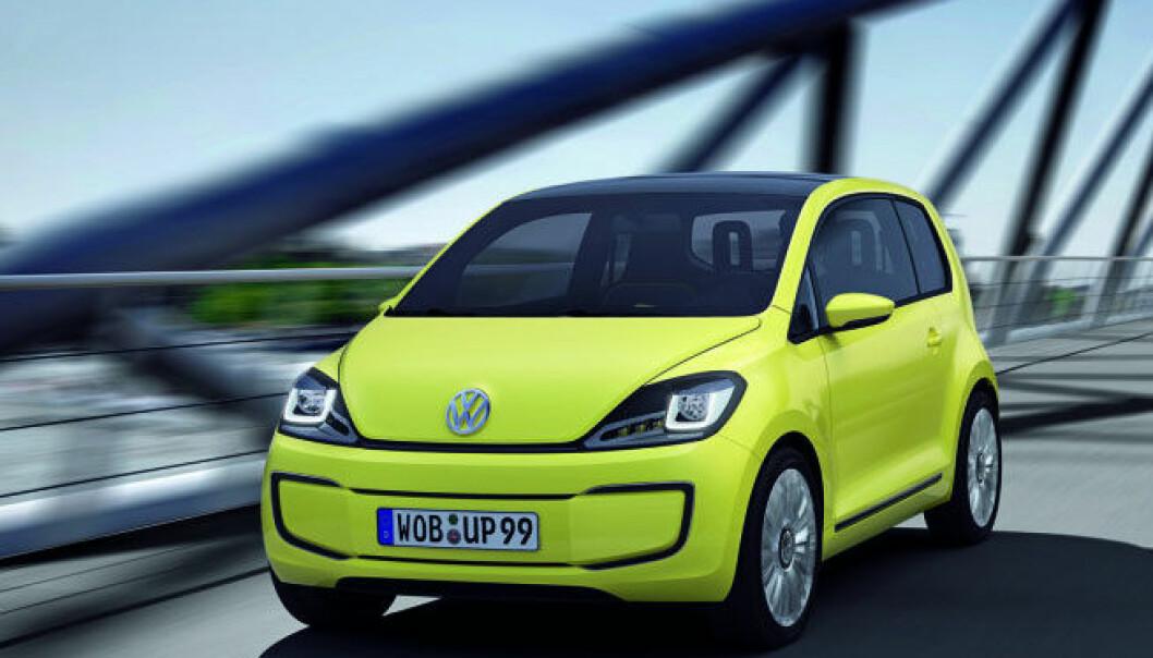 Volkswagens E-up er en elektrisk konseptbil som trolig blir lansert i 2013. (Foto: Møllergruppen)