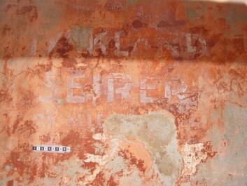 """Tollboden ble okkupert av tyskere under 2. verdenskrig. Et av malingslagene avslørte teksten: """"Tyskland seirer på alle fronter"""""""