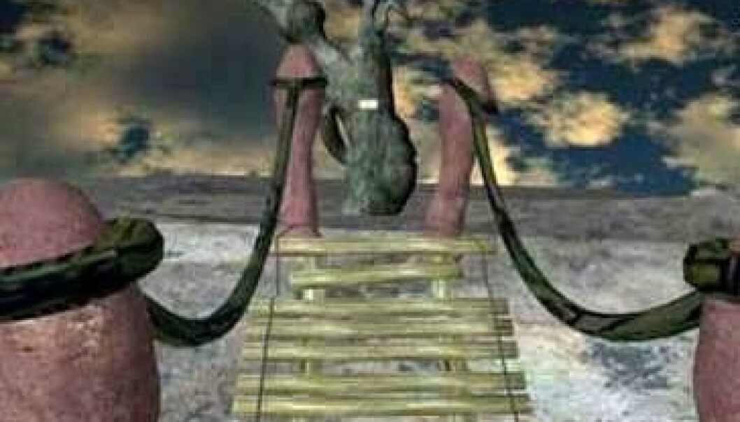 Menn tøffer seg for kvinner selv i en virtuell setting, ifølge en ny studie publisert i Journal of Evolutionary Psychology. (Foto: Jeroen Derks, Journal of Evolutionary Psychology)