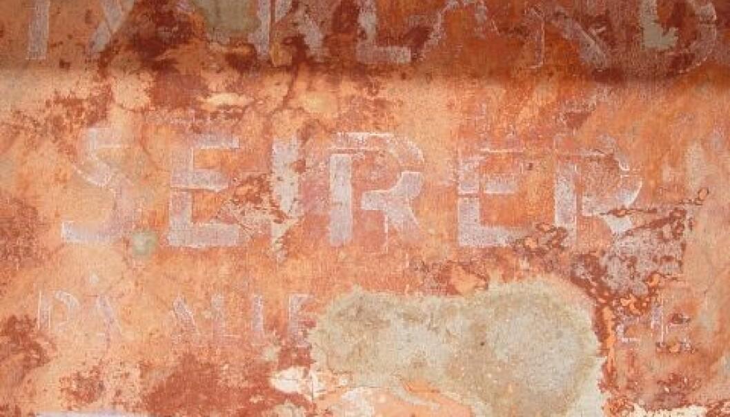 """Tollboden ble okkupert av tyskere under 2. verdenskrig. Et av malingslagene avslørte teksten: """"Tyskland seirer på alle fronter""""."""