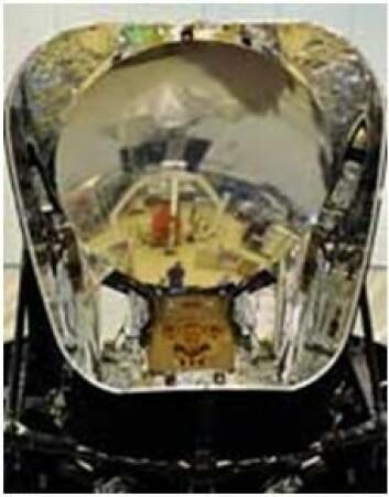 Nærbilde at Plancks teleskop. (Foto: ESA)