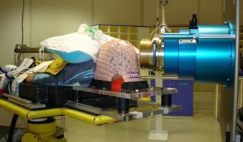 Protonbehandling under narkose. (Foto: Institut Curie)