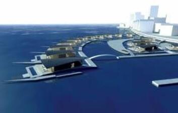Helsingfors gjennomgår nå en omfattende byutvikling. De første vannområdene er nå godkjent, og Guy Design Group skal ha ansvaret for tolv bolighus. (Illustrasjon: Guy Design Group)