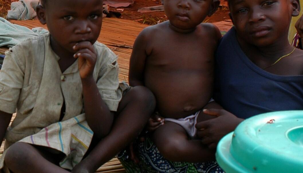 """""""Disse småguttene er bare tre av en million mennesker som antas å være på flukt i Kongo. (Foto:© EC/ECHO/François Goemans)"""""""