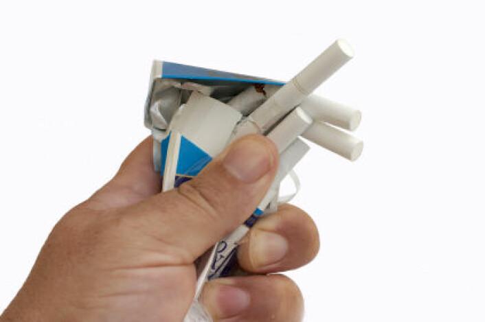 """""""Studien viser blant annet at knusing av virtuelle sigaretter gjør det lettere å holde seg motivert til røykesluttekurs. (Illustrasjonsfoto: www.colourbox.no)"""""""