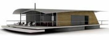 – Båter ser elegante ut fordi de er smale. Vi har latt oss inspirere av det, og har laget et kileformet hus på 120 kvadratmeter, sier Guy Lönngren. (Illustrasjon: Guy Design Group)