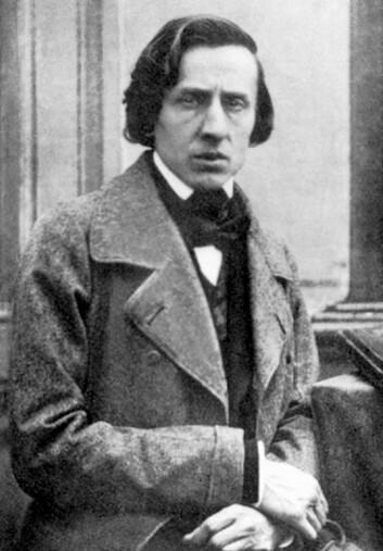 Frédéric Chopin avbildet av den franske fotografen Louis-Auguste Bisson i 1849. (Bilde fra Wikimedia Commons)