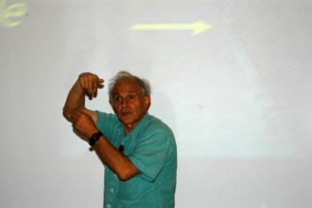 """""""Nobelprosvinner Harry Kroto. (Foto: Atle Abelsen)"""""""