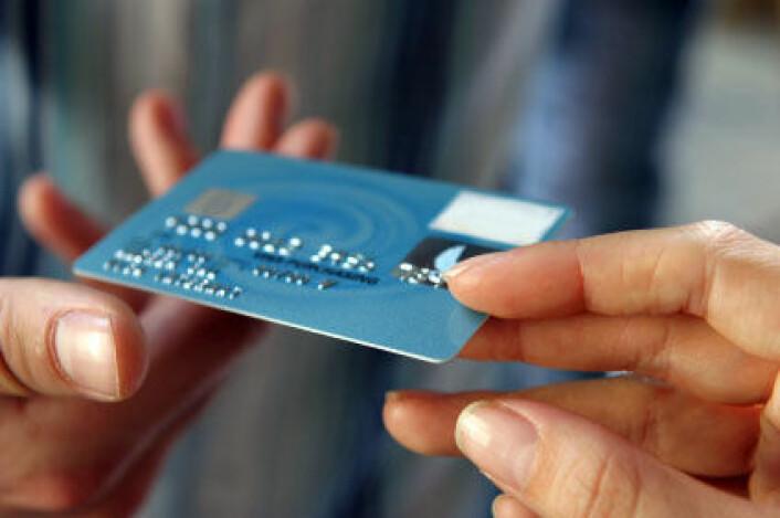 Amerikanske husstander hadde i gjennomsnitt nærmere 50 000 kroner i kredittkortgjeld i 2008. (Bildet er manipulert. Illustrasjonsfoto: iStockphoto)
