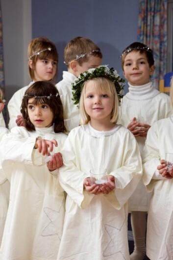 Moderne Lucia-feiring. (Illustrasjonsfoto: www.colourbox.no)
