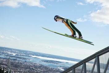 Hopp i Holmenkollbakken. (Foto: Stian Broch/Ski-VM 2011)
