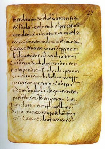 Side av middelaldermanuskript fra klosteret San Millán de la Cogolla i La Rioja.