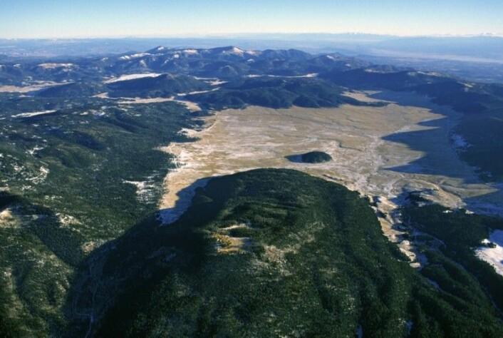 Flyfoto av Valle Grande i Valles Caldera. Foto: Don Usner.