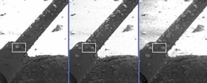 """""""Vanndråpen vokser. (Foto: NASA)"""""""