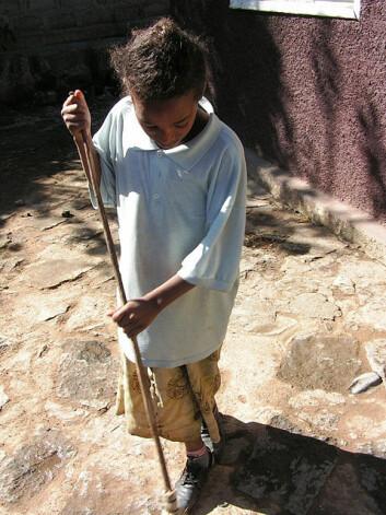Mange jenter jobber som hushjelp i Addis Abeba. (Foto: flickr.com/Joska)