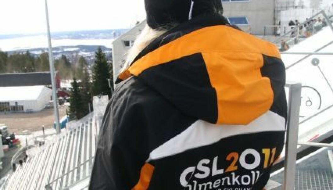 Frivillig under prøve-VM. (Foto: Ski-VM 2011)