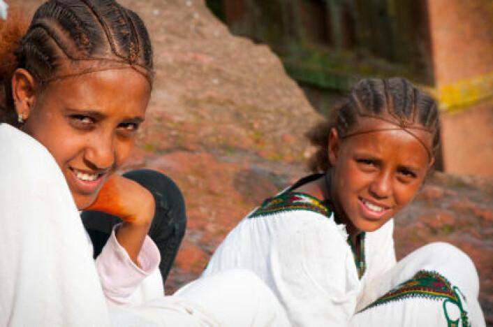 """""""Selv om etiopiske jenter i utgangspunktet er sunnere enn guttene, er det jentene det går hardest utover når det er lite mat. (Illustrasjonsfoto: iStockphoto)"""""""