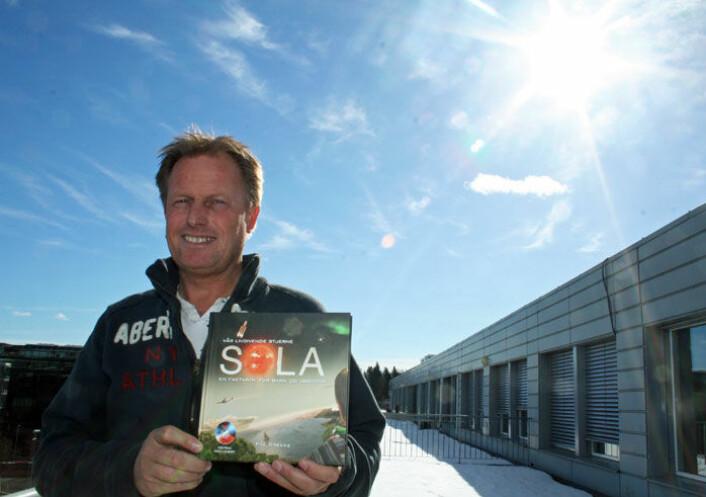Solfysiker Pål Brekke har suksess med sin bok om sola. (Foto: Asle Rønning)