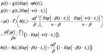 Ikke alle er like flinke som Ole Einar Bjørndalen til å finne formen. De kan, ifølge forskerne, putte sine data inn i denne formelen og få svaret på hvor lang treningspause de skal ta før konkurranse. Formelen gir performance p(t) som funksjon av fitness g(t), fatigue h(t), og tid t.