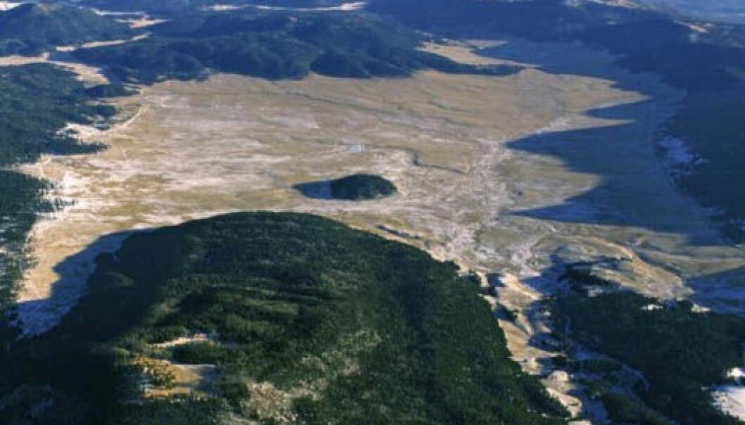 Flyfoto av Valle Grande i Valles Caldera. (Foto: Don Usner)