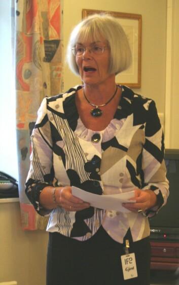 """Minister for forskning og høyere utdanning, Tora Aasland. (Foto: Marianne Nordahl)"""